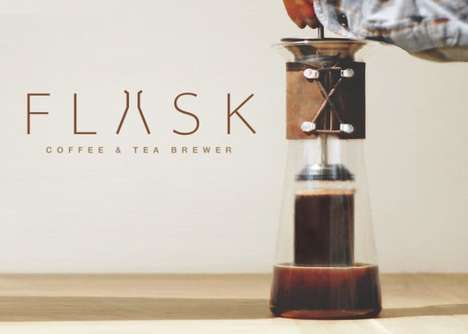 Streamlined Hot Beverage Presses - The 'FLASK' Brewer Prepares the Perfect Coffee and Tea