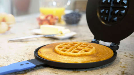 Hybrid Breakfast Cake Makers - The 'PanWaffle' Creates Fluffy Pancake Waffles in an Instant