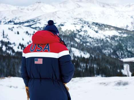 Heated Ink Jackets - Ralph Lauren's Team USA Olympic Jacket Uses Heat-Conducting Ink