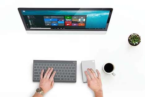 Conceptually Multipurpose PC Peripherals - This Microsoft All-In-One Keyboard Combines Many Items