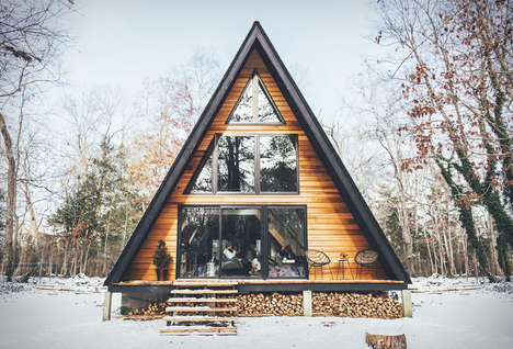 Secluded Cabin Hotels - The Lokal A-Frame Boutique Cabin Offers Comfortable, Tranquil Amenities