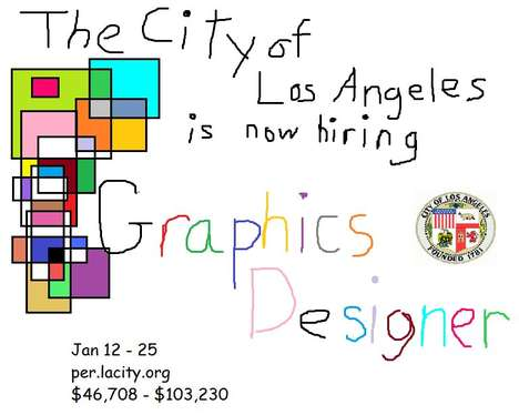 "Ironic Graphic Design Ads - The City of Los Angeles' ""Graphics Designer"" Ad is Intentional Ugly"