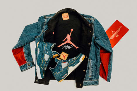 Authentic Denim Apparel - The Levi's and Air Jordan Collaboration Brings The Denim Air Jordan IV