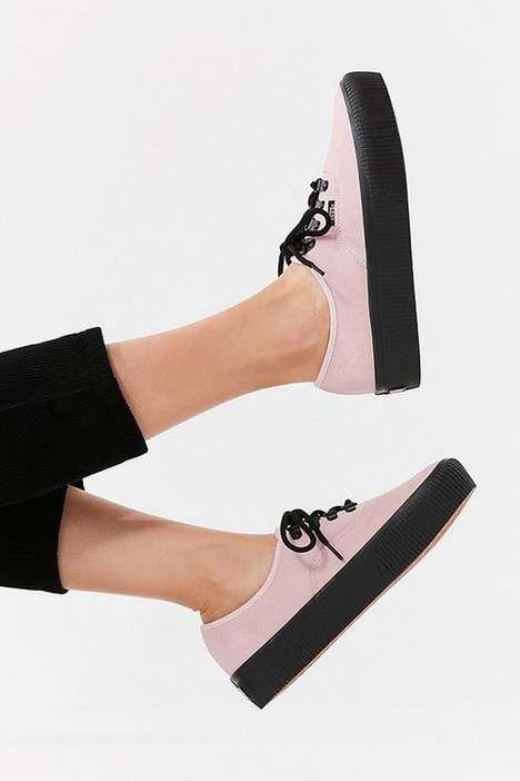 Reworked Suede Platform Sneakers