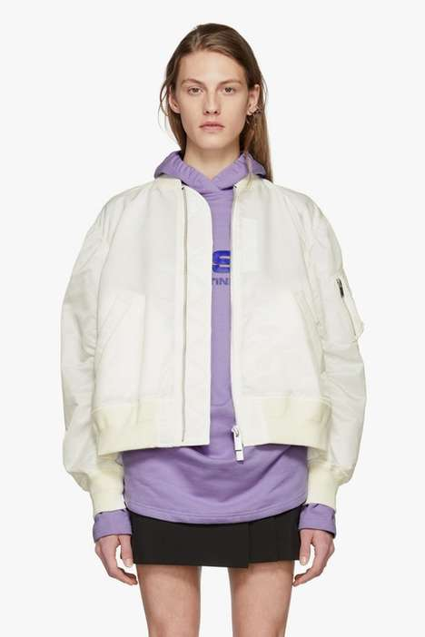 Cream-Colored Designer Bombers