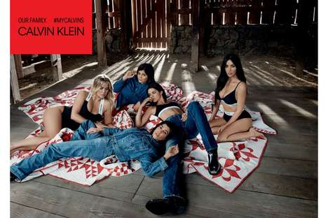 Socialite Sister Underwear Campaigns - The Kardashian's #MyCalvin's Ad Was Inspired by Americana