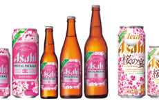 Cherry Blossom Beer Branding - The New Asahi Super Dry Packaging is Florally Infused for Spring