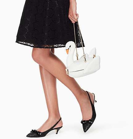 Swan Pool Float Handbags - The Kate Spade Swan Bag is Three-Dimensional and Pool Float-Inspired