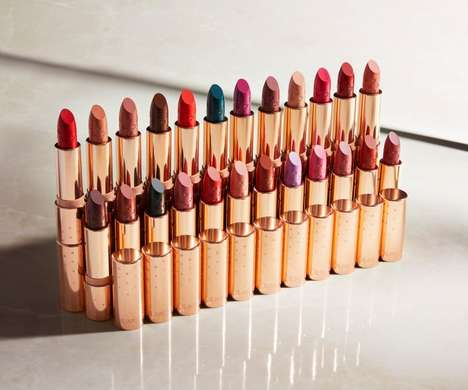 Gold-Packaged Lipstick Collections