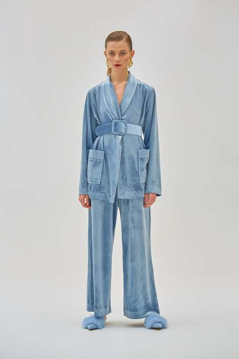Sleepwear-Inspired Velvet Suits