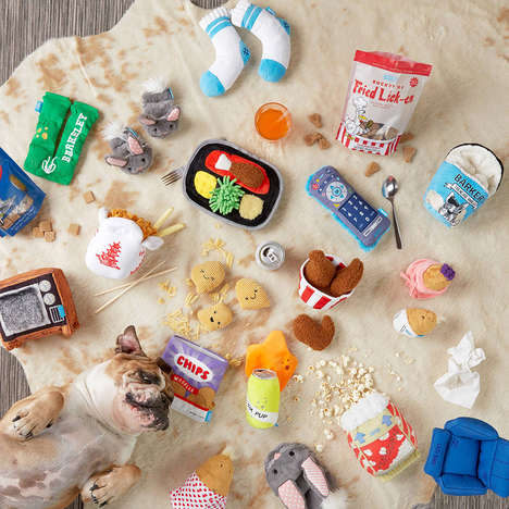 Lazy Dog Toy Collections - Target and BarkShop's 'Couch Pawtatoes' Introduce Cute Dog Toys