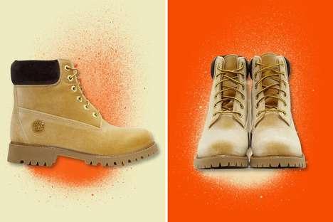 Reinvented Velvet Work Boots