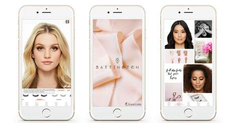 Augmented Eyelash Apps - The New Battington App Lets Users Try Out Eyelashes Through AR