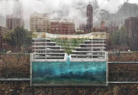 Flood-Proof Parking Structures - The 'Pop-up' Structure Withstands Flooding by Floating Above it