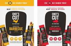 Nitrate-Free Jerky Snacks - The Chefs Cut Real Jerky Co. Mini Sticks Contain Seven Grams of Protein