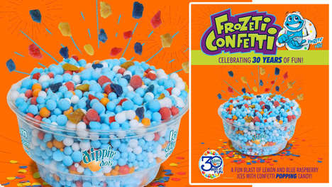 Popping Candy-Infused Ice Creams - The Dippin' Dots 'Frozeti Confetti' Celebrates the Brand's 30th