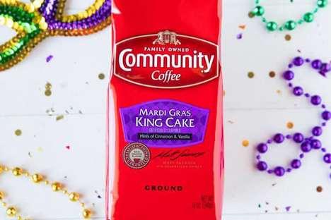 Festive Mardi Gras Coffees