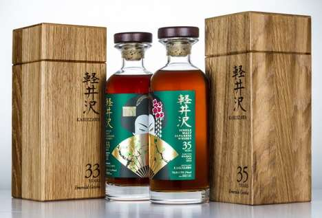 Ultra-Rare Japanese Whiskies - Karuizawa Whiskey's Emerald Geisha Will Be Sold in Limited Amounts