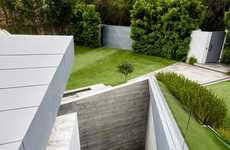 Grass-Encapsulated Multi-Level Homes - This Californian Home is Encompassed by a Grassy Landscape
