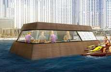 Floating Water-Based Food Stands - The Aqua Pod Will Be the World's First Floating Kitchen