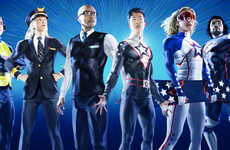 Superhero-Themed Airline Campaigns - United Airlines' Campaign Features Six Olympic Athletes