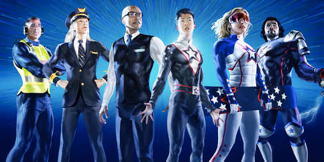 Superhero-Themed Airline Campaigns