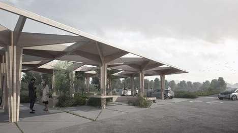 Tree-Shaped Car-Charging Stations