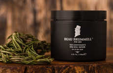 Masculine Botanical Face Masks - The Beau Brummell for Men Gentlemen's Facial Mask is Refreshing