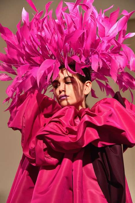 Over-Sized Feathered Headdresses
