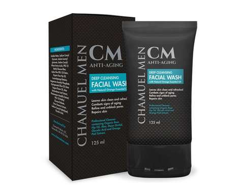 Anti-Aging Men's Cleansers - The Detoxifying Chamuel Men Facial Wash Fights Wrinkles, Acne and More