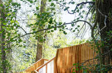 Rustic Forest Platforms - 'ACES Treehouse' Serves as a Viewpoint for Flora and Fauna