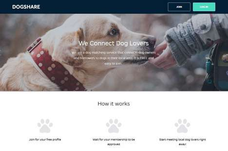 Free Dog-Sharing Platforms - 'Dogshare' Connects Nearby Owners for Canine Play Dates