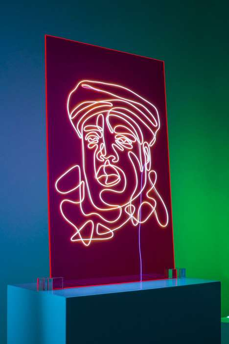 Neon Rap Portraits