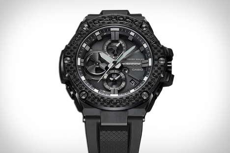 Connected Carbon Bezel Timepieces