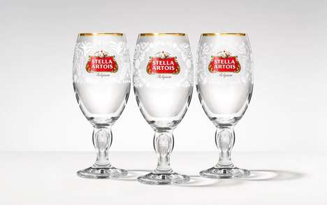 Romantic Charity Chalices - Stella Artois' Limited-Edition Chalices Support Clean Water Initiatives