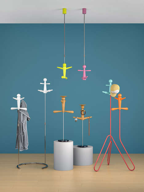 Suspended Coat Racks