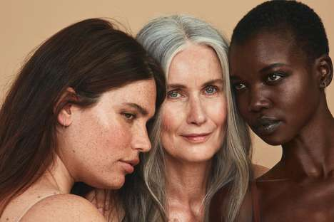 Unretouched Skincare Campaigns - Babor and the All Woman Project Promote a Healthy Body Image