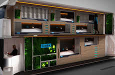 Luxurious Night Buses - The Simba Snoozeliner Contains Sleeping Pods With High Tech Bus Beds