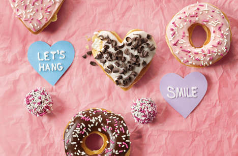 Romantic Donut Shop Menus
