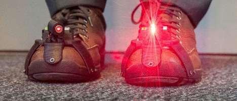 Symptom-Reducing Laser Shoes
