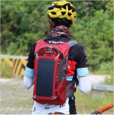 Device-Charging Solar Backpacks
