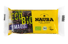 Sour Berry Sesame Bars - Naura Foods' Bio Sesame Snaps with Maqui Spotlight a Sour Berry