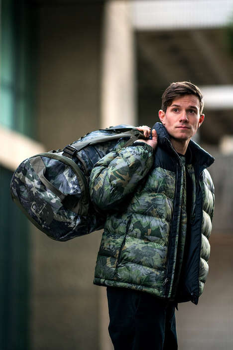 Tropical Camo Puffer Jackets