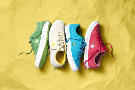 Bold-Colored Skate Sneakers