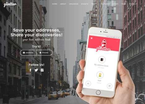 Address-Saving Social Networks
