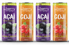 Beneficial Super Fruit Sodas - The Berry Company Lightly Sparkling Drinks are Goji and Açaí Flavored