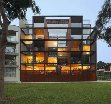 Boxy Glass Condo Buildings