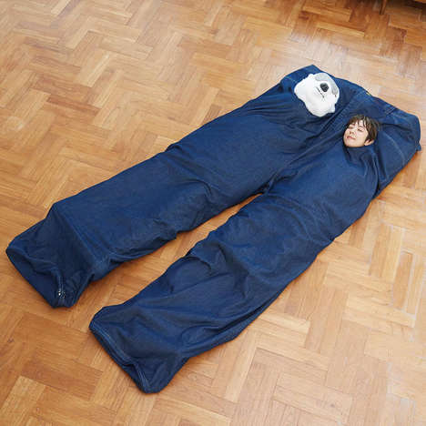 Oversized Denim Sleeping Bags