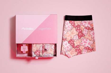 Candy-Paired Underwear Packaging - The MeUndies x Sugarfina Bento Box is Filled with Gummy Treats