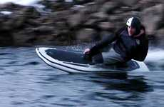 Whisper-Quiet Electric Wakeboards - The Radinn G2X Electric Jet Board Cruises at 36MPH